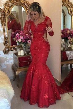 8327e1092f Red Prom Dresses Mermaid