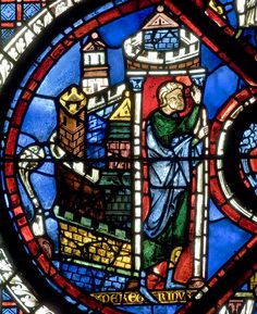 Chartres Cathedral Stained Glass - Bay 44 (Good Samaritan) Panel 05