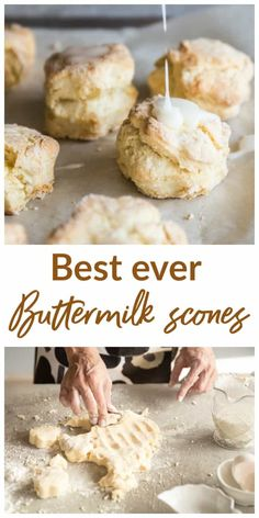 recipe for the best Buttermilk Scones! Easy and with everyday ingredients, you can have them ready in less than an hour.Amazing recipe for the best Buttermilk Scones! Easy and with everyday ingredients, you can have them ready in less than an hour. Mini Scones, Lemon Scones, Buttermilk Scone Recipe, Mini Chocolate Chips, High Tea, Afternoon Tea, Baked Goods, Good Food, Brunch
