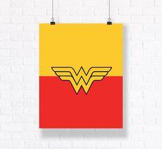Wonder Woman Insignia Customizable Comic Book Illustration