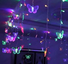 Butterfly Icicle Garland String Lights (6 Colors) 150 or 300cm US Plug - Changeable / 350x50cm, US Plug
