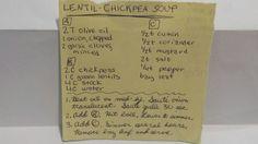 LENTIL-CHICKPEA SOUP #chickpea #lentil #historical