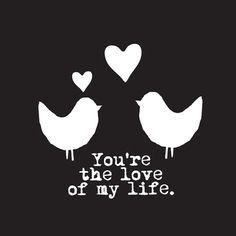 Love Birds   You're the love of my life   via @fonq.nl.nl.nl.nl