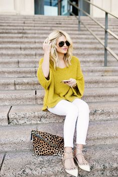 Yellow Sweater & Valentino Dupe Flats | Chronicles of Frivolity