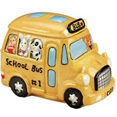 School Bus cookie jar