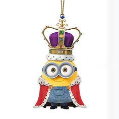 Despicable Me King Bob Minion Christmas Holiday Ornament Inches Measures 2 x 1 x 1 inches Made of hand painted resin Licensed product made by Kurt Adler, imported Minions Bob, Minions Images, Despicable Minions, Cute Minions, Minion Pictures, My Minion, Minions Quotes, Funny Minion, Funny Jokes