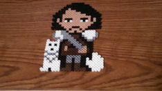 Game of Thrones Jon Snow Perler Art by GeekyPixelations