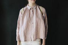 Ichi Antiquites Gather Shirt Pink