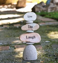 Live, Love, Laugh | Stepping Stones