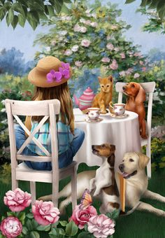 Tea Party by Thomas Wood