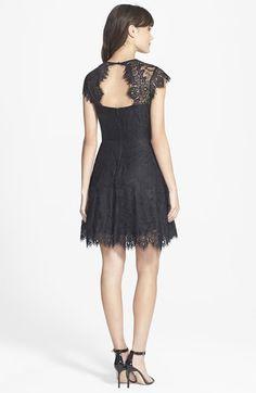 BB Dakota 'Rhianna' Illusion Yoke Lace Fit & Flare Dress   Nordstrom