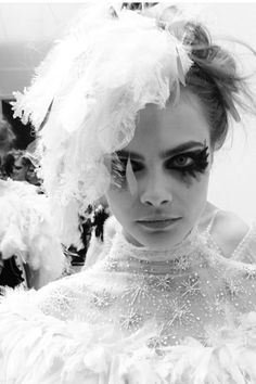 pfw 2013 Chanel couture...some serious feathers ...