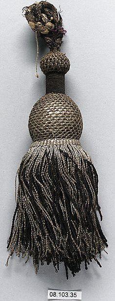 Decorative Tassel 19th c French, silk & metal thread