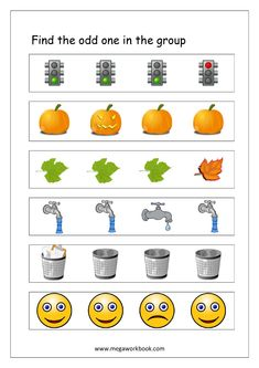 Free Printable Odd One Out Worksheets - Logical Thinking & Aptitude Worksheets For Kindergarten/Preschool Educational Games For Kids, Preschool Learning Activities, Language Activities, Toddler Activities, Kindergarten Math Worksheets, Kindergarten Lessons, Worksheets For Kids, English Poems For Kids, School Readiness