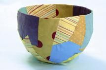 13 Creative Ways To Repurpose Leftover Gift Wrap That You Will Absolutely Love!: Paper Mache Bowls