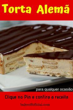 A Receita de Torta Alemã é fácil de fazer, deliciosa e vai impressionar toda a sua família. Chocolate Torte, Cheesecake Cupcakes, Pasta, Vegan Desserts, No Bake Cake, Coco, Cake Recipes, Sweet Treats, Food And Drink