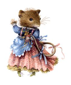Marjolein Bastin, Vera the Mouse illustration Maus Illustration, Marjolein Bastin, Little Presents, Nature Artists, Dibujos Cute, Cute Mouse, Dutch Artists, Beatrix Potter, Illustrators