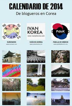 Calendario de 2014 con fotos de Corea del Sur.