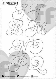 ALPHABET LETTER MOLDS - We selected here in this post some molds of alphabet letters for felt productions already edited in natural size! Lettering Design, Hand Lettering, Coloring Sheets, Coloring Pages, Craft Stick Crafts, Kids Crafts, Letter Stencils, Felt Patterns, String Art