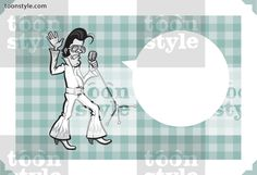 Greeting card with cartoon rock star – personalize your card with a custom text