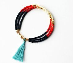 Bead Bracelet Red Beaded Bracelet Red Bracelet Gold Bracelet Bracelet Stack Bracelets for Women Gift for Friend