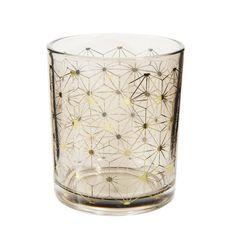 Kerzenglas CONSTELLATION aus Glas, H 8 cm