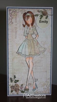 Paper Doll Graduation Cards using Julie Nutting paper doll rubber stamps