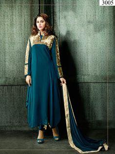 Bollywood Anarkali Pakistani Designer Indian Ethnic Salwar Kameez Wedding Party…