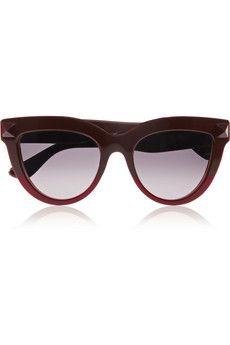 Valentino Rockstud cat-eye acetate sunglasses | NET-A-PORTER