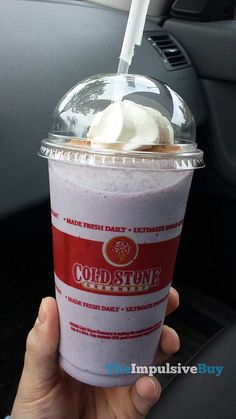 REVIEW: Cold Stone Creamery Blueberry Donut Shake