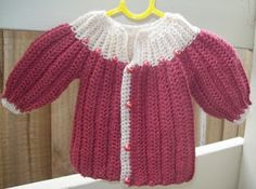 Cats-Rockin-Crochet Free Crochet Patterns: Cat's One Piece Wonder, Baby Sweater/Cardigan 3 to...