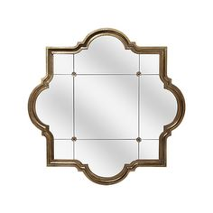 "similar style but in antique gold - Aisling 55"" Mirror With Quarterfoil Design in Antique Gold"