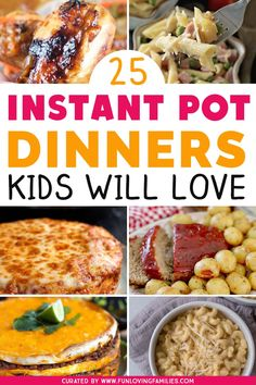 Get some delicious, kid-friendly Instant Pot dinner ideas to help with your meal planning this week. #instantpotrecipes  #dinner #kidfriendlyfood #familydinners