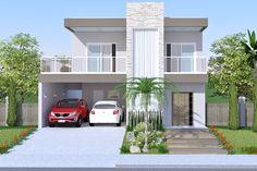 Planta de sobrado com piscina e deck - Projetos de Casas, Modelos de Casas e Fachadas de Casas