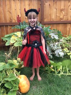 Your place to buy and sell all things handmade Halloween Tutu Dress, Costume Dress, Devil, All Things, That Look, Tulle, Dance, Costumes, Girls