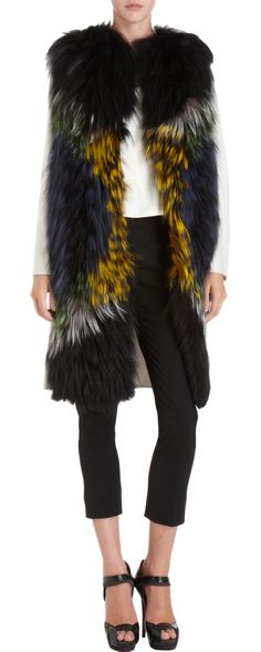 Fendi Fur Front Coat