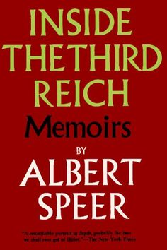 Read more on Albert Speer, he was a pig and should have been hanged with the rest of the Nazi slime. This is a book that attempts to justify his crimes and to bullshit his way out of the hangmens noose. Did a pretty good job as he had most everyone fooled. Smart man also a psycopath with no conscience. Not worth the paper it's printed on.