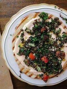 Parsley+Quinoa Tabbouleh w/ Pita+Spiced Yoghurt-SimpleProvisions