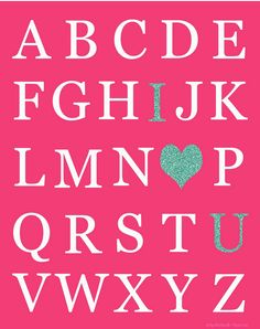 I love U Valentine's Day Printable By Funky Polkadot Giraffe, featured by @savedbyloves