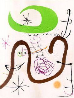 """""""Le sublime est corrosif"""" extrait de Adonides qui réunit Jacques Prévert et Joan Miró."""
