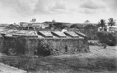 Intramuros, Manila, Philippines 1898 by John T Pilot, via Flickr Fort Santiago, Philippine Architecture, Les Philippines, Intramuros, Time Of Our Lives, Rough Riders, Baja California, Historical Pictures, Old Photos