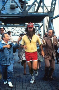 """I just felt like runnin."" Because who hasn't dreamed about running across the US, Forrest Gump style?"