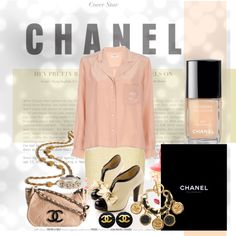Chanel Pink and Black, created by dupree-townsend.polyvore.com