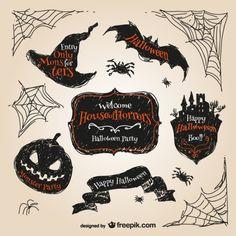 halloween-hand-drawn-stickers_23-2147497082.jpg (626×626)