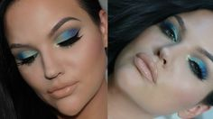 HALF CUT CREASE MERMAID MAKEUP TUTORIAL