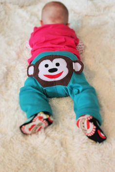 SALE      Monkey pants pattern 03m 6m 9m 12m by terrastreasures1, $6.50 How cute would these be on little diapered butts!?