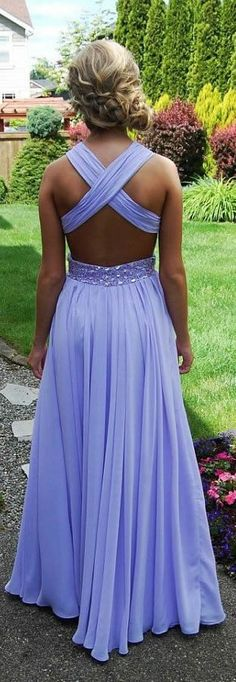 backless prom dress , long chiffon open back evening dress , A-Line , formal dress , pageant wedding party homecoming dress,lavender bridesmaid dresses,beaded prom dress,beading evening gowns,long prom dresses,chiffon bridesmaid dresses,modest prom dress