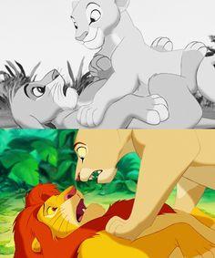 Nala and Simba from The Lion King. Girl Power!! Go Nala! FROM: http://25.media.tumblr.com/54245b368b4f3c51d062f47cea8e64cb/tumblr_mpn72issvD1rz364co1_500.png