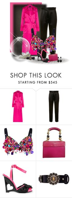 """The Spring Trench!"" by flippintickledinc ❤ liked on Polyvore featuring Michael Lo Sordo, Protagonist, Dolce&Gabbana, Versace, Prada, Alexander McQueen and Oscar de la Renta"