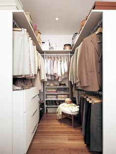 Trendy home organization decor declutter Ideas Closet Hacks, Closet Organization, Wardrobe Closet, Walk In Closet, Closet Renovation, My House Plans, Master Bedroom Closet, Closet Shelves, Trendy Home